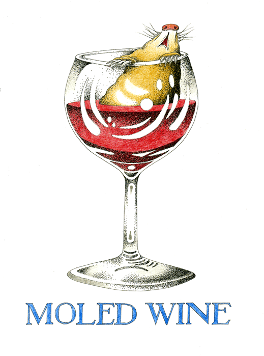 Funny Cards - Moled Wine