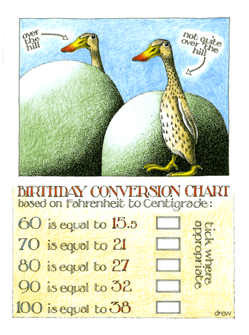 Birthday conversion chart