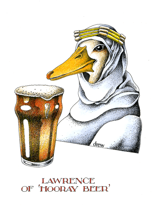 Funny Cards - Lawrence Of 'hooray Beer'