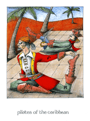 Funny Cards - Pilates Of The Caribbean