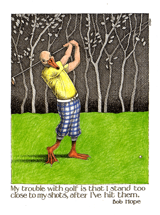 Funny Cards - Trouble With Golf