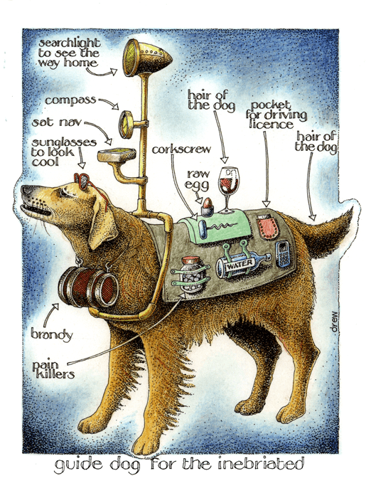Funny Cards - Guide Dog For The Inebriated
