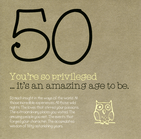 Birthday Card - 50 - Amazing Age To Be