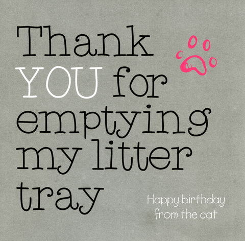 Thank you for emptying my litter tray