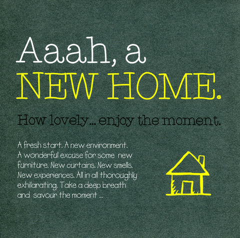 New Home Card - New Home - Enjoy The Moment