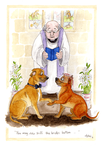 Wedding Day Card - May Now Sniff The Bride's Bottom