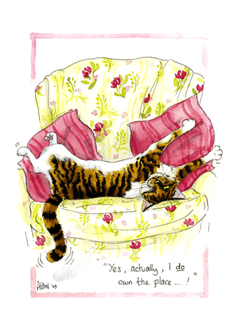 Funny Cards - Cat - Actually, I Do Own The Place