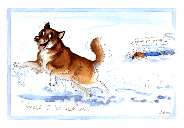 Funny Christmas Cards - Dogs - Love Fresh Snow
