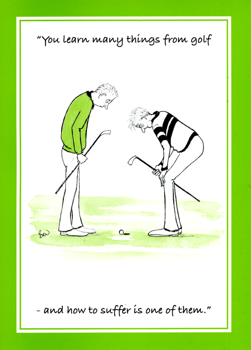 Funny Cards - Learn Many Things From Golf