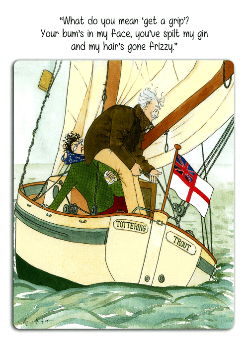 Funny Card Tottering By Gently Sailing Get A Grip