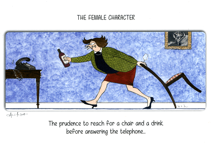 Funny Cards - Before Answering The Telephone