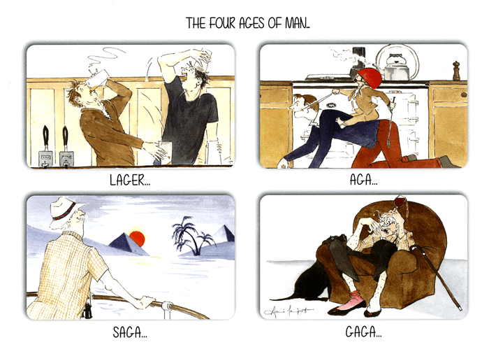 Funny Cards - The Four Ages Of Man