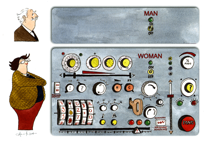 Funny Cards - Man V Woman