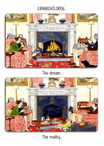 Funny Cards - Grandchildren - Dream Versus Reality