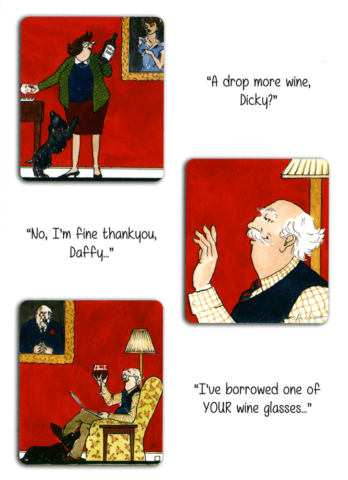 Funny Cards - A Drop More Wine, Dicky?