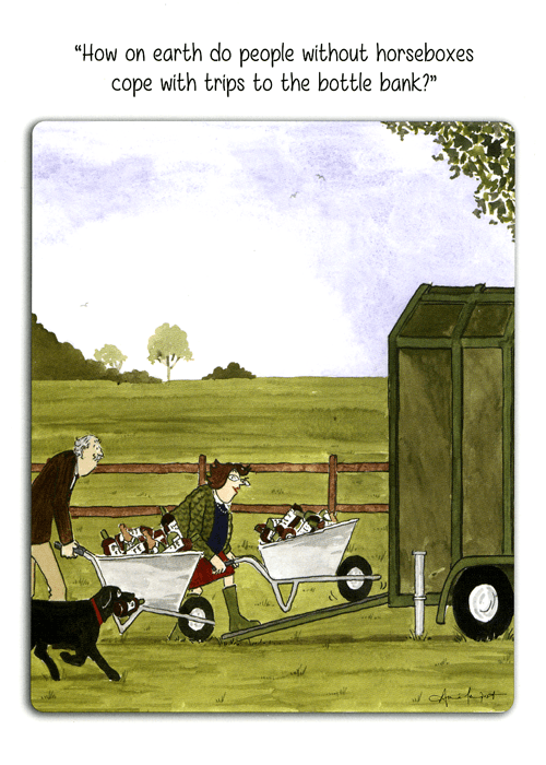 Funny Cards - Horsebox - Trips To The Bottle Bank
