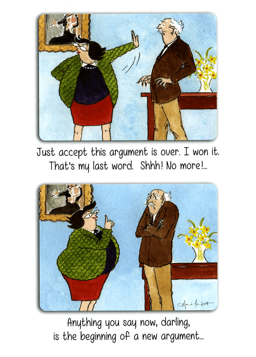 Funny Cards - This Argument Is Over. I Won It.