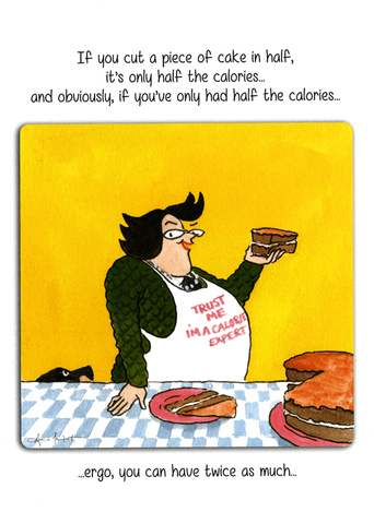 Funny Cards - Cake - Half The Calories