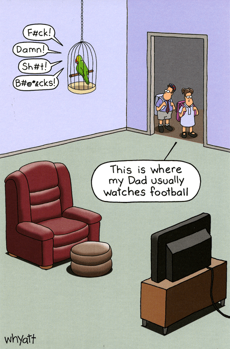 Birthday Card - Where Dad Watches Football