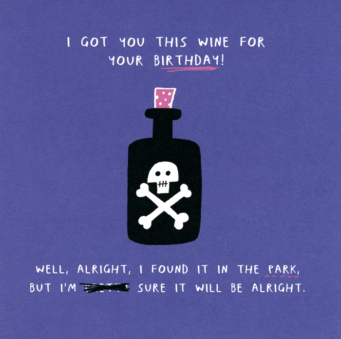Birthday Card - Got You This Wine For Your Birthday