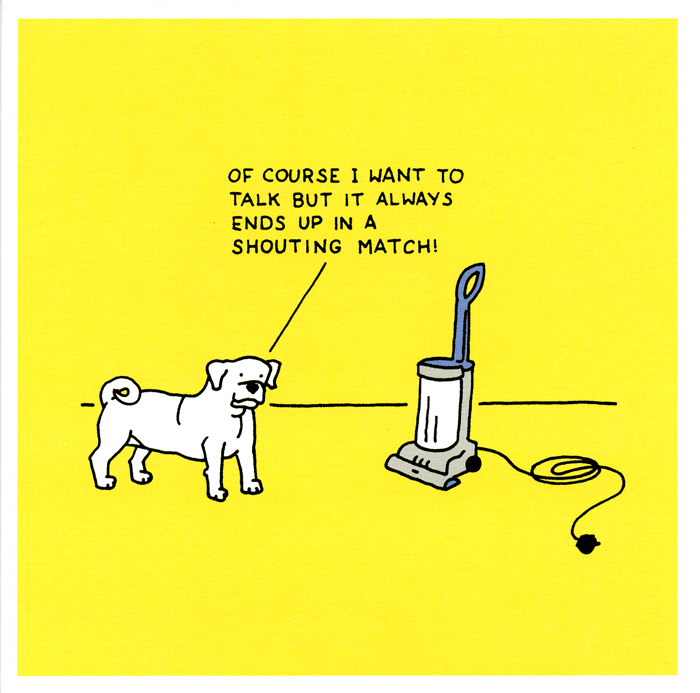 Funny Cards - Dog And Hoover