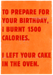 Birthday Card - Prepare For Birthday - Burnt Calories