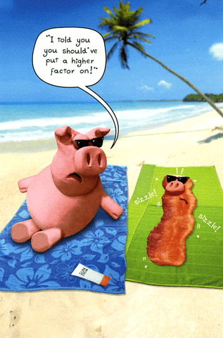 Birthday Card - Pig - Put A Higher Factor On