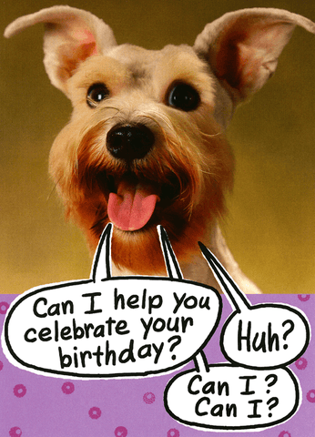 Birthday Card - Dog - Help Celebrate Your Birthday