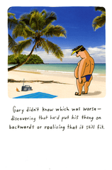 Funny Cards - Put His Thong On Backwards