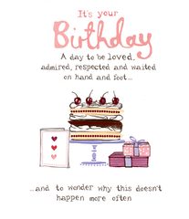 Birthday Card - Birthday - Day To Be Loved And Respected