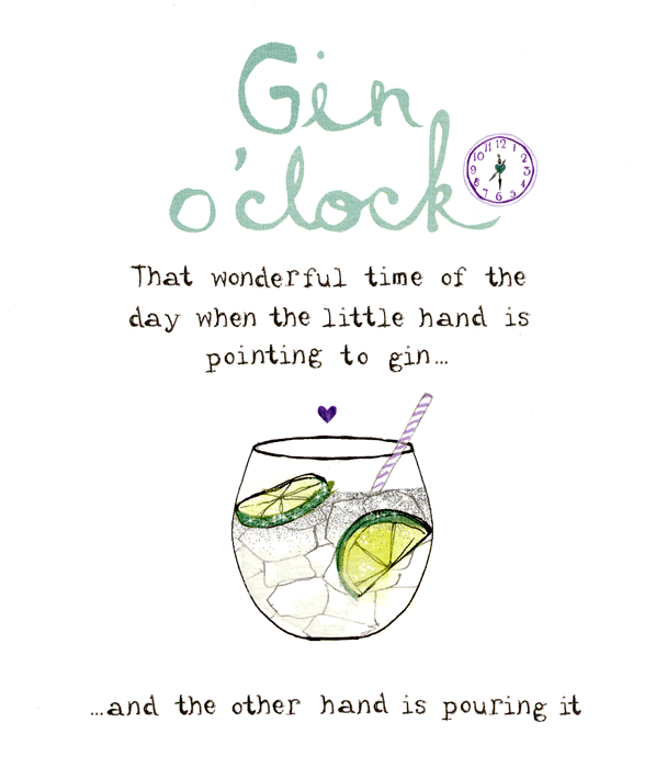 Birthday Card - Gin O'clock
