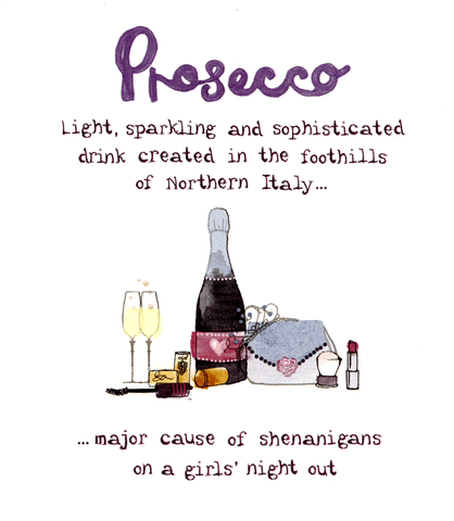 Birthday Card - Prosecco - Shenanigans On A Girls' Night Out