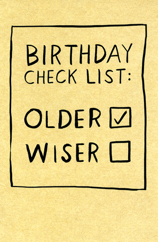 Birthday check list