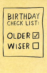 Birthday Card - Birthday Check List