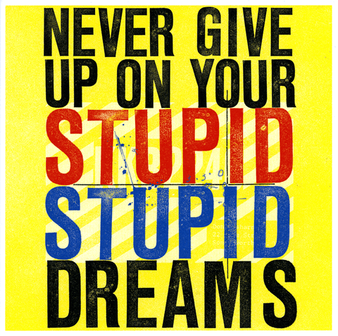 Funny Cards - Never Give Up On Your Stupid Stupid Dreams