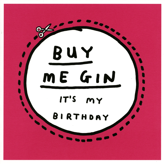 Birthday Card - Birthday - Buy Me Gin