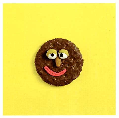 Funny Cards - Smiling Biscuit