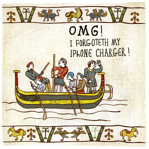 Funny Cards - Forgoteth My IPhone Charger!
