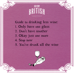 Funny Cards - Guide To Drinking Less Wine