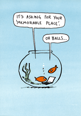 Funny Cards - Memorable Place - Goldfish