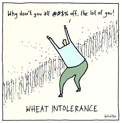 Funny Cards - Wheat Intolerance