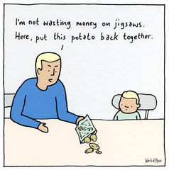 Funny Cards - Not Wasting Money On Jigsaws
