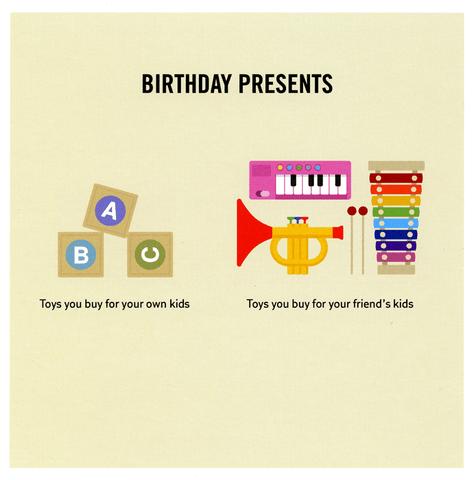 Funny Cards - Toys You Buy For Your Friend's Kids