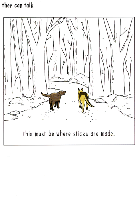 Funny Cards - Dogs - Where Sticks Are Made