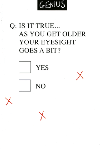 As get older eyesight goes