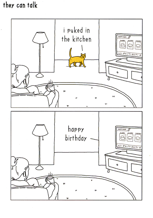 Birthday Card - Cat - Puked In Kitchen
