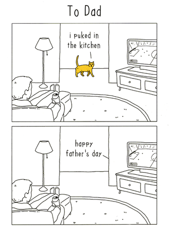 Father's Day - Cat puked in Kitchen