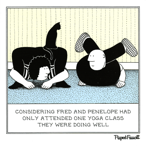 Funny Cards - Yoga Going Well