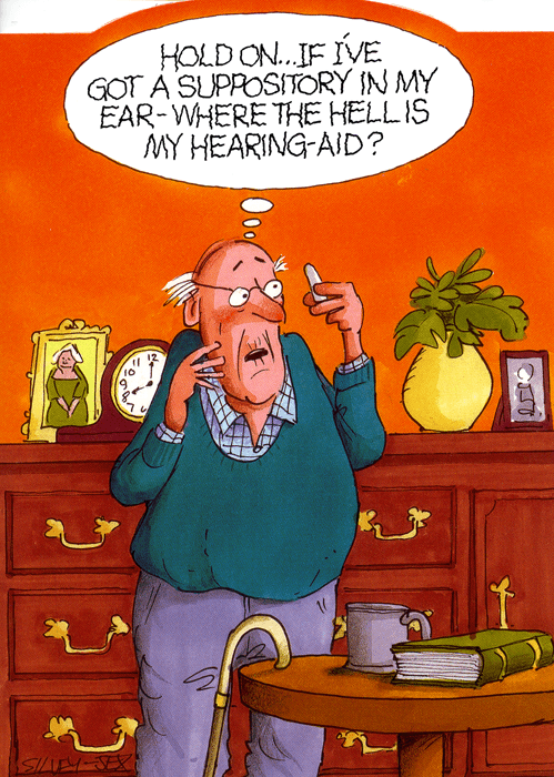 Humorous Card Wrinklies Suppository In My Ear Comedy Card Company