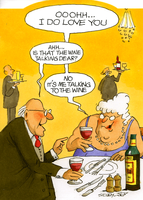 Funny Cards - Is That The Wine Talking Dear?